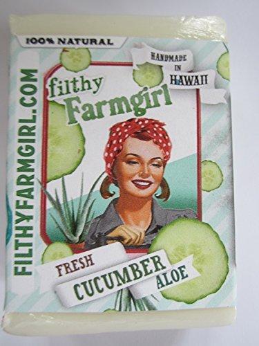 Fresh Cucumber Aloe BAR SOAP Coconut oil Safflower Organic Cucumbers (Oil Safflower Soap)