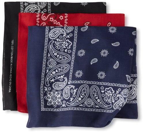 Levi's Men's 100% Cotton Bandana Headband Gift Sets, Assorted, One Size -