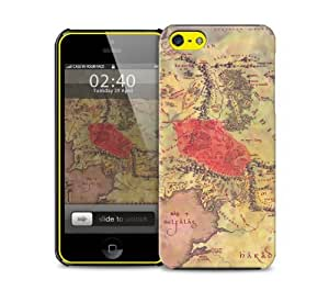 middle earth map iPhone 5c protective phone case