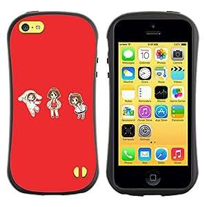 Suave TPU GEL Carcasa Funda Silicona Blando Estuche Caso de protección (para) Apple Iphone 5C / CECELL Phone case / / Cute Japanese Anime Girls /