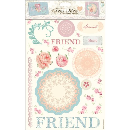 (DOCrafts Papermania Vintage Notes Decoupage Pack 2/Sheets-Love)