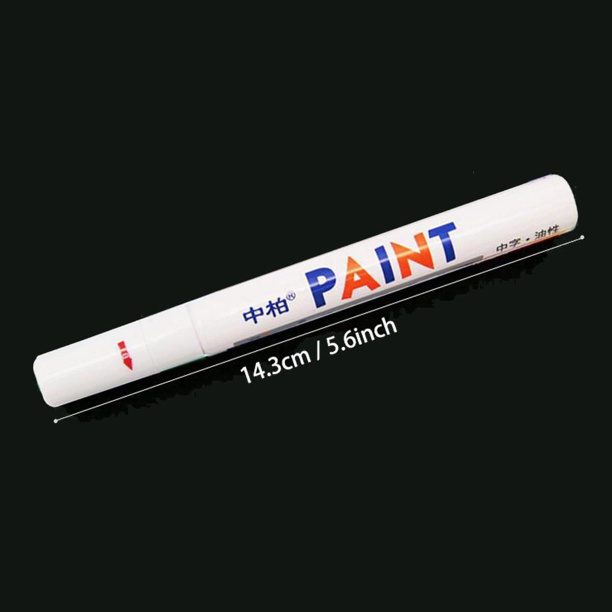 6X White Paint Pen Marker Waterproof Permanent Car Tire Lettering Rubber Letter