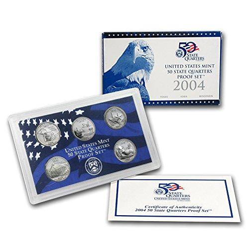 (2004 S U.S. Mint Proof State Quarter Set - 5 Coins - OGP Original Government Packaging Superb Gem Uncirculated )
