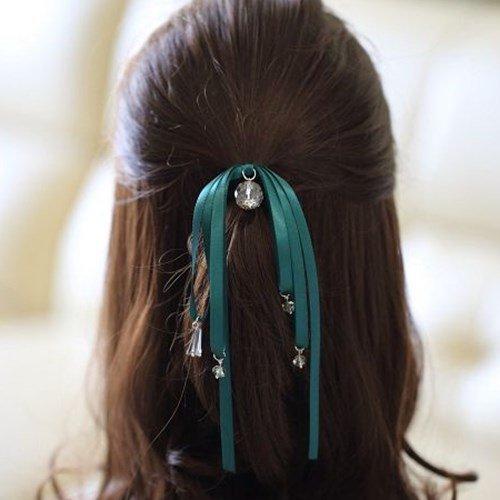 usongs 2018 hair rope hair ring Tousheng Crystal jewelry simple fresh ponytail ribbon ladies hair accessories