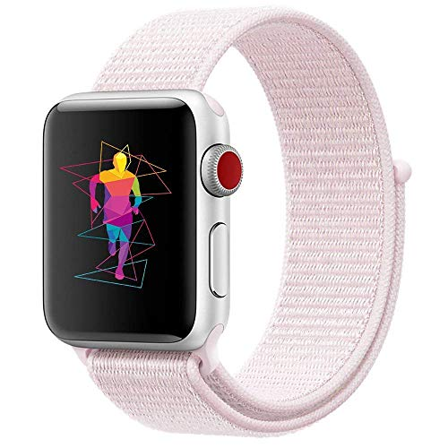 Unisex for iPhone Watch Nylon Velcro Watch Band Wrist Strap Sport Wristband