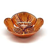 Red Pomegranate 4619-3 Side Set/4 Pansy 6'' Copper Purple Bowls