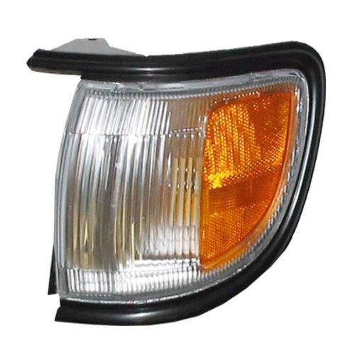 (1996-1999 Nissan Pathfinder (Built Before 11/98 Production Date) Corner Park Light Turn Signal Marker with BLACK Trim Left Driver Side (1996 96 1997 97 1998 98 1999 99))