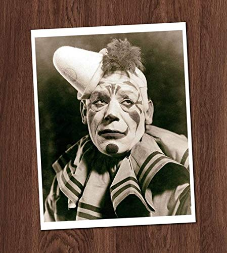 Sad Clown Creepy Vintage Photo Art Print 8x10