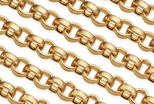 3 Feet 14Kt Gold Filled Rolo Chain 1.5 mm For Diy Beading Arts and Crafts - Gold Filled Bulk Chain