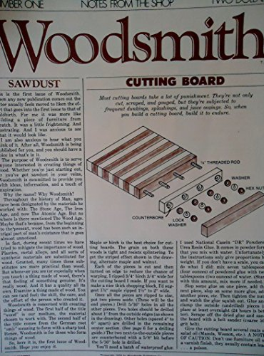 Woodsmith Magazine - January 1979, (No. 1) - Notes From the Shop - Cutting Board, One-Evening Projects - The Rack, Cooling Rack, Trestle Table, Double-Duty Table, ETC. ETC