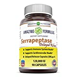 Amazing Nutrition Serrapeptase (120, 000 Units - 90 Capsules) - Natural Anti-Inflammatory