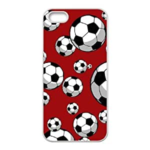 wugdiy New Fashion Cover Case for iPhone 5,5S with custom Soccer