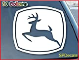"John Deere Car Window Vinyl Decal Sticker 5"" Wide (Color: White)"
