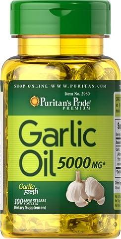 Puritan's Pride Garlic Oil 5000 mg-100 Rapid Release