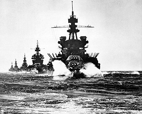 LAMINATED POSTER The U.S. Navy battleship USS Pennsylvania (BB-38) leads USS Colorado (BB-45), USS Louisville (CA-28) (Bb Uss Pennsylvania)