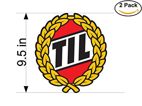 fan products of Tromso IL Norway Soccer Football Club FC 2 Stickers Car Bumper Window Sticker Decal Huge 9.5 inches