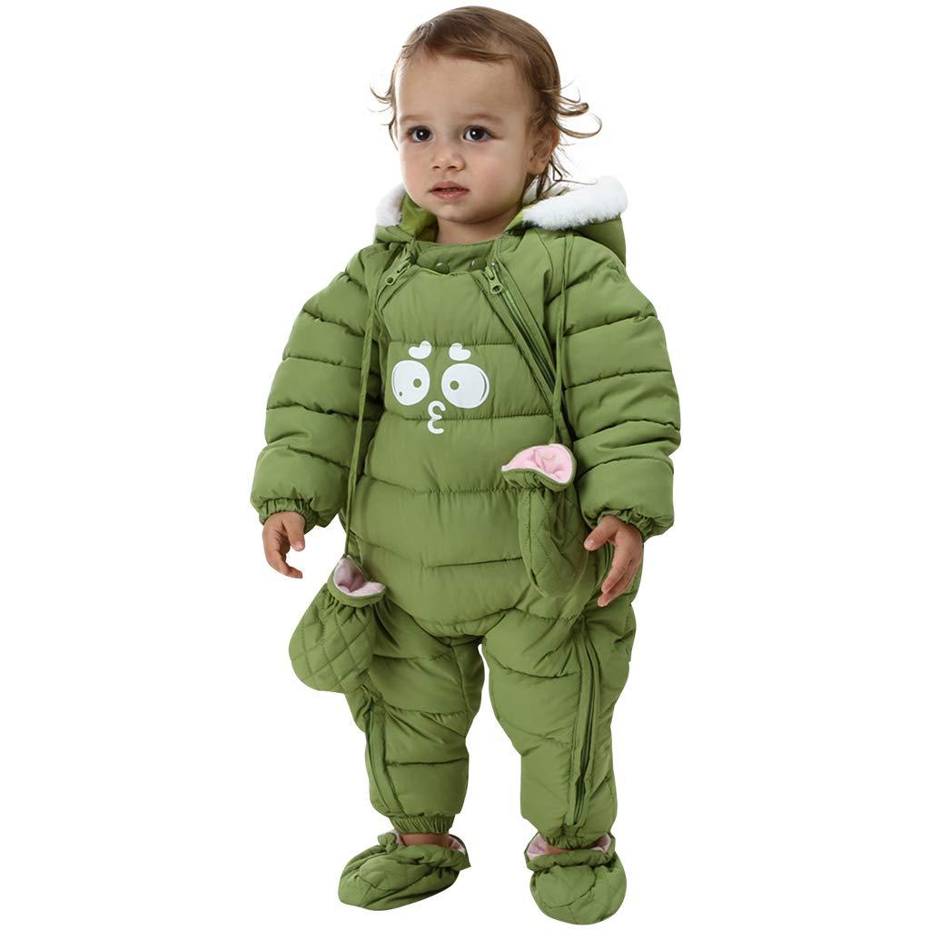 Bestgift Unisex S/äugling Baby Kleinkind Winter Schneeanzug mit Kapuze Warm Oberbekleidung