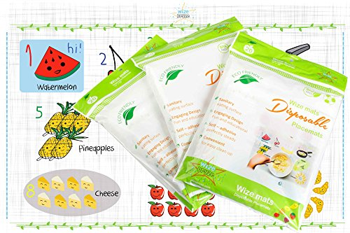Disposable Placemats Toddlers Individually Restaurants product image
