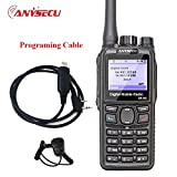 ANYSECU DM960/DM-960 TDMA DMR Digital Two way radio UHF400-470MHZ 5Watts Dual Slot Times Compatible with MOTOTRBO+Programming cable+Microphone