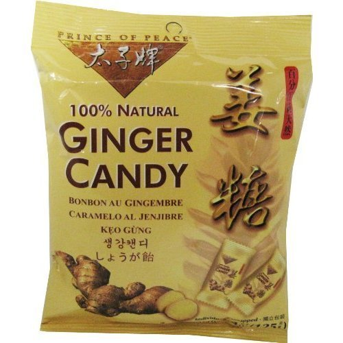 10 Pack Ginger Chews 4.4 Ounce by Prince Of Peace