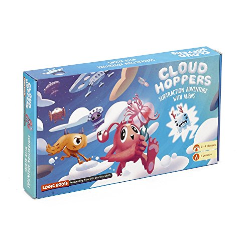 LogicRoots Ocean Raiders and Cloud Hoppers Bundle Stem Addition Subtraction Game for Kids of 5 Years and -