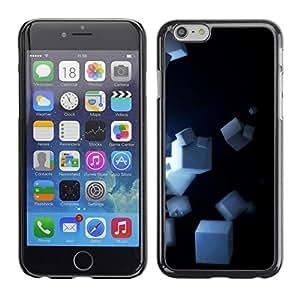 TopCaseStore / la caja del caucho duro de la cubierta de protección de la piel - Cubes - Apple iPhone 6