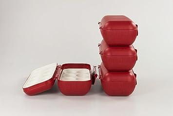 Kühlschrank Ei : Tupperware kühlschrank eierbox rot eier box aufbewahrung dose