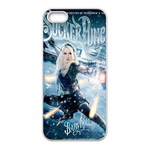 Baby Doll Sucker Punch 9 coque iPhone 4 4S Housse Blanc téléphone portable couverture de cas coque EBDOBCKCO11238