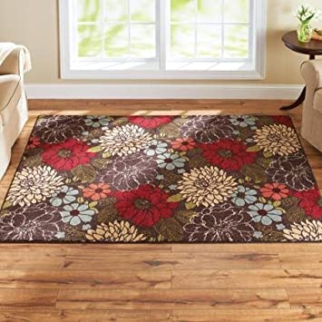 Amazoncom Better Homes and Gardens Sorbet Faux Hook Floral Rug