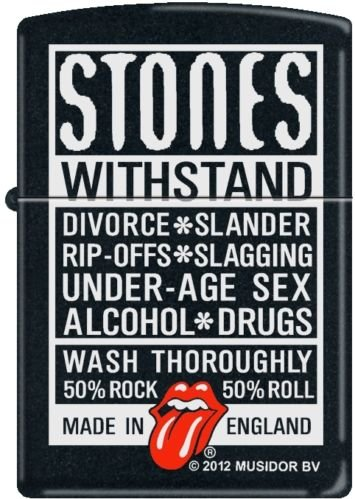 - 2013N ZIPPO Rolling Stones Withstand 218 Black Matte
