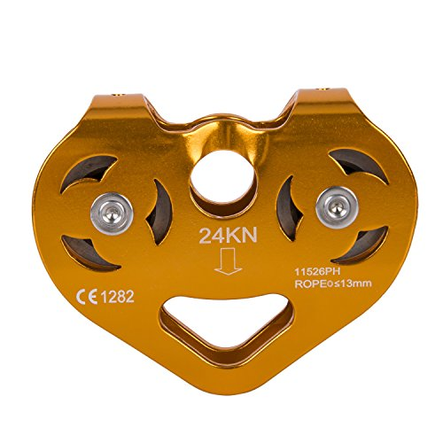 Climbing Rock 24KN Double Speed Tandem Pulley for Outdoor Mountaineering Rescue Lifting