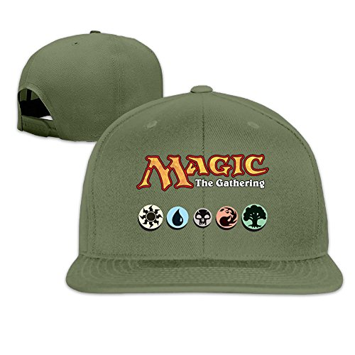 aawode-unisex-magic-the-gathering-plain-adjustable-snapback-hats-caps-forestgreen