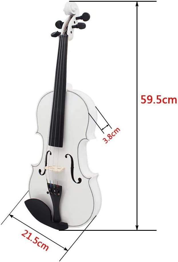 Color : Black White ACHKL The new black and white light universal common practice violin wood adult musical instruments ACHKL