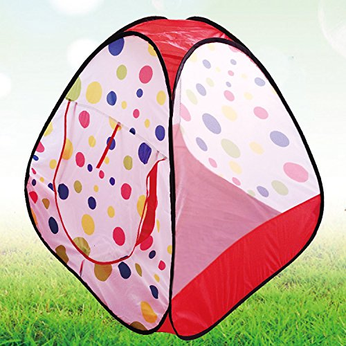 POCO DIVO Polka Dot Playhouse Toddler Mesh Ball Pit Kids Triangle Play Tent Indoor Outdoor Teepee Children Toy House
