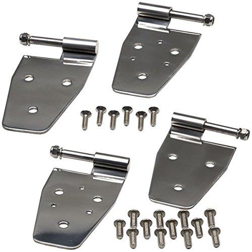 Kentrol 30441 Stainless Steel Half Door Hinge Set (Kentrol Mirror)
