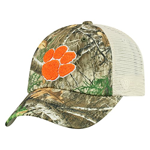 Top of the World Clemson Tigers Official NCAA Adjustable Sentry Realtree Poly Twill and Mesh Hat Cap by 367767
