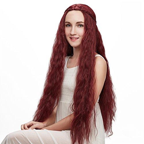 Liz Wig Game of Thrones Character Melisandre Long Wavy Cosplay Wig 32