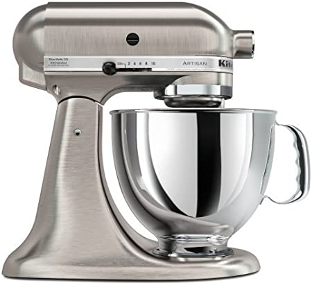 KitchenAid KSM150PSENK - Robot de cocina, motor de 300 vatios, capacidad de 5 l, acero inoxidable, color níquel: Amazon.es: Hogar