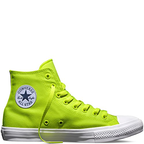 Converse Men's Chuck Taylor All Star II, VOLT/WHITE, 8 M (Yellow Converse Shoes)