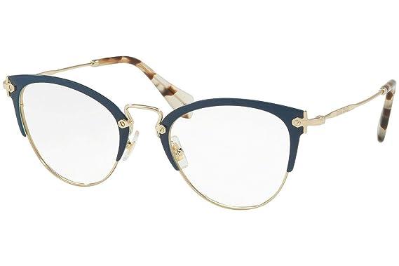 31510c60843 Miu Miu MU 50QV - VYH1O1 Eyeglass Frame BLUE PALE GOLD w  Clear Demo ...