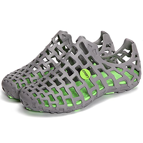 Violet amp;HS Hollow Mesh Breathable amp; Big Green Flats Sandals Gray Beach Shoes Size wwq8Br