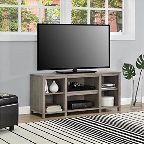 Mainstays Parsons Cubby TV Stand, Oakfinish
