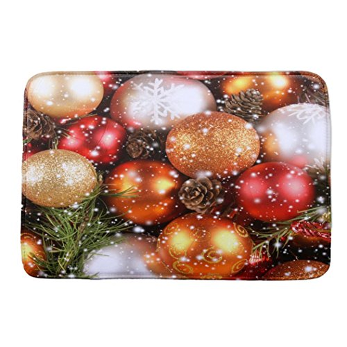 Vibola Christmas Rug Holiday Decor Carpet Non-Slip Bath Mat 40×60cm (D)