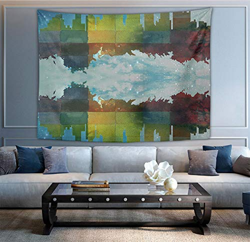 NiYoung Dallas City Skylines Tapestry, Bohemian Wall Tapestry Wall Hanging Tapestry - Wall Indian Decorations Wall Art for Living Room Bedroom Dorm Room 50 x 60 inches]()