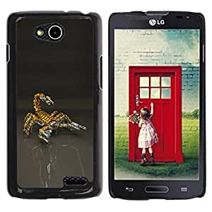 Rubber Case Hard Shell Cover Protective Accessory BY RAYDREAMMM - LG OPTIMUS L90 / D415 - Scorpion Bot Mech Robot