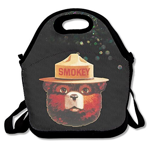 Bakeiy Smokey Bear Head Lunch Tote Bag Lunch Box Neoprene Tote For Kids And Adults For Travel And Picnic (Smokey The Bear Costume)