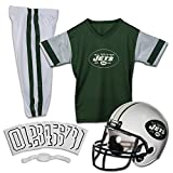 Franklin Sports New York Jets Kids Football Uniform Set – NFL Youth Football Costume for Boys & Girls – Set Includes Helmet, Jersey & Pants – Medium