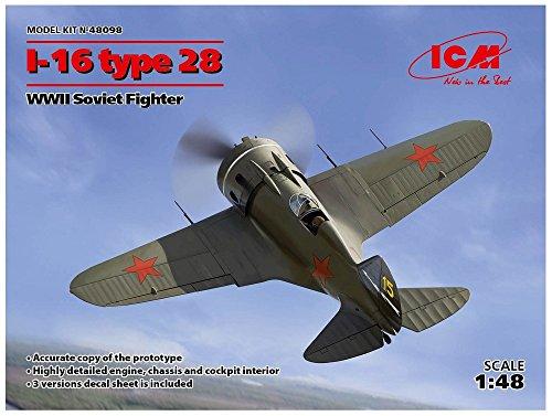 ICM 48098Model Kit-I 16Type 28WWII Soviet - Kit Fighter Soviet