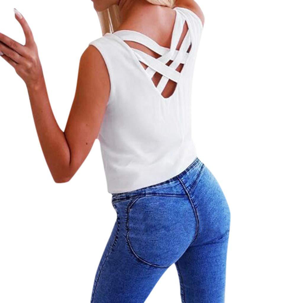 riou Camisetas Mujeres Verano Tamaño Grande Blusa Tirantes ...