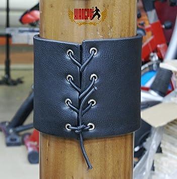 Hotour Sports Traditional Wing Chun Dummy Striking Pad de Extra d/épaisseur en Bois poup/ée Prot/éger Pads 2pcs//Set